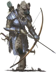 Gnoll Leader, Pathfinder - Illustration by Ben Wootten PZO1130-GnollLeader.jpg (immagine JPEG, 789 × 1000 pixel)
