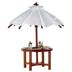 ORDERED Saxony Garden Table with Beef Kabob Dinner by Reutter Porzellan