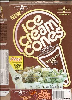 1986 General Mills Ice Cream Cones Cereal Box Front by gregg_koenig, via Flickr