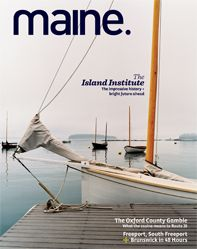 The October issue of #MaineMagazine highlights shops and restaurants located in Brunswick and Freeport, Maine