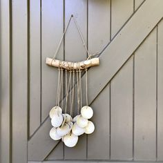 Blij om dit item uit mijn shop te delen: Rustic ceramic wallhanging with a waterfall of shell like circles made out of white clay and finished with an off-white glaze Rustic Ceramics, White Clay, Making Out, Tassel Necklace, Glaze, Om, Waterfall, Shells, Etsy Shop