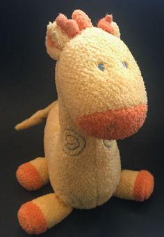 Child Of Mine Yellow Musical Giraffe Lovey Plush Stuffed Animal Rock A Bye Baby #ChildOfMineByCarters