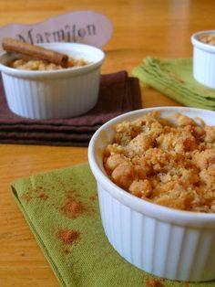 Crumble aux pommes poire et spéculoos - Recette de cuisine Marmiton : une recette