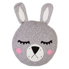 Grey Sleepy Bunny Snuggle Cushion – La De Dah Kids