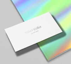 Skincare business card and branding designed by Maas 4 Studio
