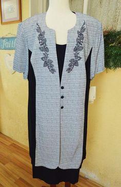 Dressbarn Embellished Faux 2 Piece Jacket Dress 22/24 Classic Work Cute Plus NEW #Dressbarn #Sheath #WeartoWork