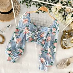 Corset+Floral+Crop+Top Size+is+one+size+with+measurements+as+mentioned+below: PLEASE+READ:+there+are+chances+that+your+package+will+be+sent+in+separate+package+if+you+order+multiple+products+from+us.+Don't+worry,+everything+will+arr. Boho Outfits, Pretty Outfits, Cute Outfits, Fashion Outfits, Fashionable Outfits, Fashion Clothes, Crop Top Und Shorts, Crop Top Outfits, Crop Blouse