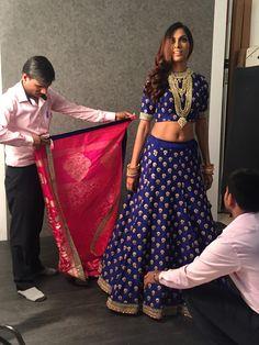 #InTheMaking #GhagraCholi #IndoWestern #Womenswear #Benzer #Benzerworld