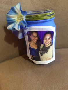 Decorated a mason jar! Great gift idea