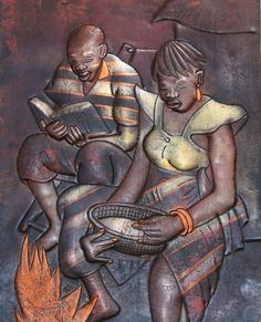 "African Copper Art  - Congo DRC - 7.5"" X 11"""