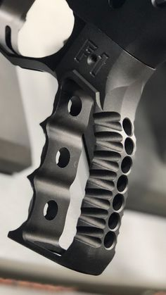 Firearms Skeletonized Grip - with finger grooves - Real Time - Diet, Exercise, Fitness, Finance You for Healthy articles ideas Ar Pistol Build, Ar Build, Custom Glock, Custom Guns, Weapons Guns, Guns And Ammo, Ar Parts, Rifle Accessories, Shooting Gear