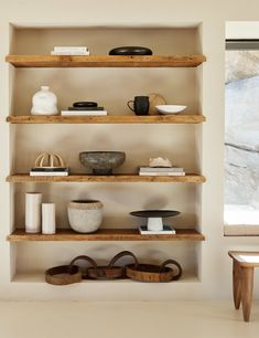 A unique mix of shape and texture defines this centerpiece accessory. A shallow, hammered iron dish perches atop a ridged ceramic pedestal to perfectly combine industrial materials and chic design. Decor, House, Shelves, Interior, Interior Styling, Home Decor, House Interior, Apartment Decor, Interior Design