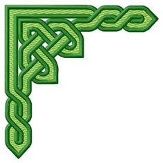 Knotwork Corner embroidery design Damask Stencil, Stencils, Geometric Wolf, Celtic Mythology, Pyrography, Board Ideas, Bulletin Board, Wood Burning, Funeral
