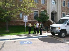 Another arrest on campus. (Photo credit: CUI) #cu420