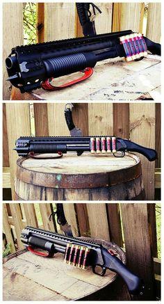 This with drum mag and magpull stock! Tactical Shotgun, Tactical Gear, Weapons Guns, Guns And Ammo, Fire Powers, Custom Guns, Cool Guns, Self Defense, Firearms