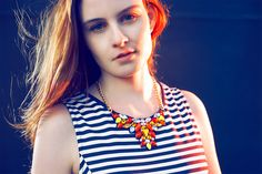 Orange red yellow bib statement necklace colorful stones by empico Collar Necklace, Orange Red, Yellow, Design Festival, Trending Outfits, Unique Jewelry, Stones, Stuff To Buy, Fashion Design