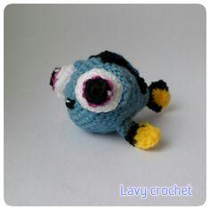 Amigurumi baby Dory plush crochet toy kawaii