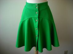 Vintage Kelly Green Skirt by Baxtervintage on Etsy, $26.00