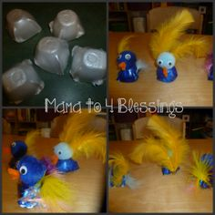 Mama to 4 Blessings -Easy Bird Craft