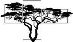 Drevený obraz na stenu BONSAJ Obraz sa skladá z troch častí SKALICA Stencil, Vintage, Tree Of Life, Stenciled Table, Vintage Comics, Stenciling