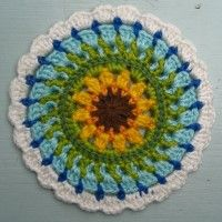 Crochet Mandala Wheel made by Ralf, Germany, for yarndale.co.uk