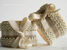Set of 2 Rustic Chic Napkin Rings   Table decor by CountryChicHome, $8.00