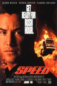 A young cop must save the passengers of a bus that has a bomb set to explode if the bus goes below 50 MPH.