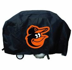 Baltimore Orioles Grill Cover Economy by Hall of Fame Memorabilia. $29.99. Show your favorite team and protect your barbeque grill at the same time! The cover is made of .10 mil thick heavy duty vinyl and features your favorite team's logo. Will fit most grills up to 68'' wide, 35'' high and 21'' deep. There is a hook and loop velcro closure at the bottom for a secure fit. Made by Rico.Images shown may differ from the actual product.