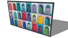 Toile PORTE, Maisons du monde. Réf: 130.735 Prix:49€ - 3D Warehouse