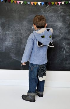Wild Grey Wolf Coat via Etsy