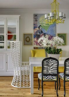 Whoa - what a fun room! Grandma's necklaces in a shadow box :) Images of :: ode to the dining room - Fieldstone Hill Design