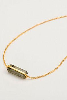 Gorjana Dez Labradorite Bar Necklace