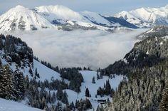 Skiing in Villars, Switzerland