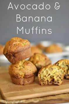 Avocado Banana Muffins and What to Do with Over Ripe Avocados