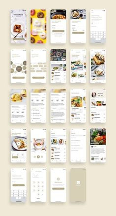 Good Food Recipes App UI Kit UI Place Good Food Recipes App UI Kit is a pack of delicate UI design screen templates that will help you to design clear interfaces for food recipe app faster and easier. File includes all recent Sketch App features suc Ios App Design, Mobile App Design, Android App Design, Mobile App Ui, Logo Design, Design Design, Wireframe Design, Flat Web Design, User Interface Design