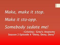 "Grey's Anatomy Season 2 Episode 4 ""Deny, Deny, Deny"""