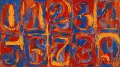 Artville Contemporary Artist Of The Day  Jasper johns Title: zero - nine  Medium: Mix media