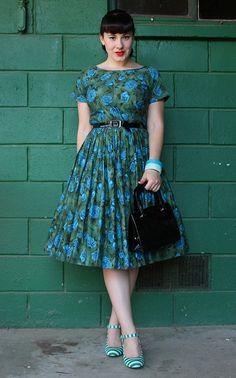 blue roses, green stripes   Flickr - Photo Sharing!