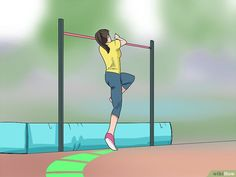 How to High Jump (Track and Field). The high jump track and field event requires skill, agility and speed. After sprinting to gain momentum, jumpers launch over a high bar and land on a crash mat on the other side. Olympic Records, Calf Stretches, Running Techniques, Track Team, Run 2, Knee Up, High Jump, How To Start Running, Image Title