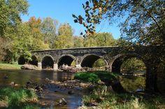 Historic Eight Arch Bridge pictures  Warwick, Bucks County, Pennsylvania http://www.davidhanauer.com/buckscounty/warwick/index.html#