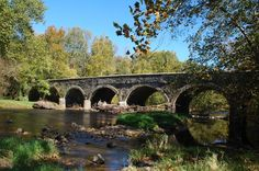 Historic Eight Arch Bridge pictures  Warwick, Bucks County, Pennsylvania http://www.davidhanauer.com/buckscounty/warwick/index.html#