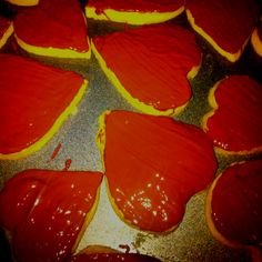 Heart shaped chocolate shortbreads