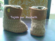 Botas a crochet  tejiendito.blogspot,com
