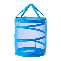 IKEA - FYLLEN, Laundry basket, blue, , The airy construction makes the moisture disappear.