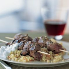 Greek lamb kabobs