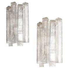 Large Italian glass sconces