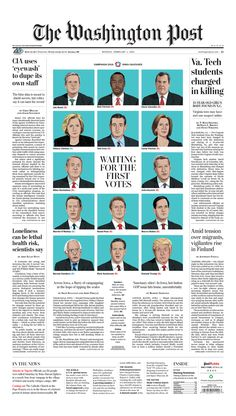Every morning, more than 800 newspapers from around the world electronically submit their front pages to the Newseum to be part of Today's Front Pages online exhibit. Newspaper Paper, Newspaper Layout, Newspaper Design, Editorial Layout, Editorial Design, Page Design, Layout Design, News Design, Journaling