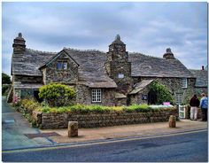 The Old Post Office, Tintagel, Cornwall, England, built in the 14th century - Photograph by Antsphoto