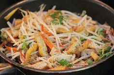 Stir fried Bean Sprout with Tofu Recipe
