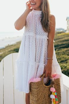 maison du maillot tiered eyelet dress | how to style an eyelet dress | how to wear an eyelet dress | summer fashion | summer style | fashion for summer | style ideas for summer | warm weather fashion | fashion tips for summer || a lonestar state of southern